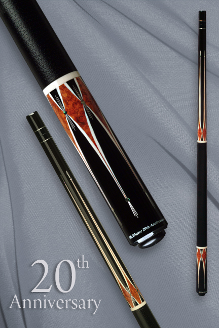 jerry_mcworter_20th-anniversary_pool_cue
